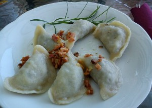 Pierogis with sausage - photo by MOs810