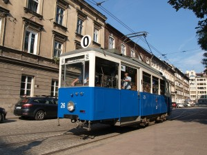 Clackety street car in Krakow